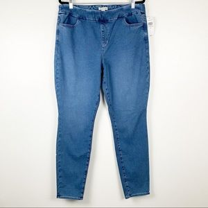 Coldwater Creek Pull On High Rise Stretch Jeans